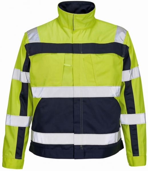 MASCOT-Workwear, Warnschutz-Jacke, Cameta, 310 g/m², gelb/marine