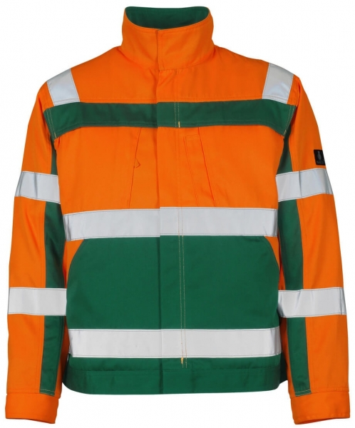 MASCOT-Workwear, Warnschutz-Jacke, Cameta, 290 g/m², orange/grün
