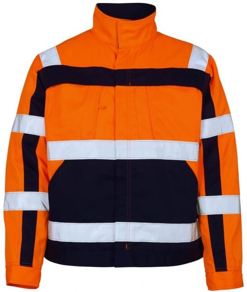 MASCOT-Workwear, Warnschutz-Jacke, Cameta, 290 g/m², orange/marine