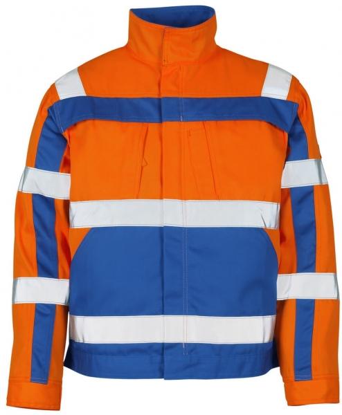 MASCOT-Workwear, Warnschutz-Jacke, Cameta, 290 g/m², orange/kornblau