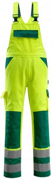 MASCOT-Workwear-Warn-Schutz-Arbeits-Berufs-Latz-Hose, BARRAS, MG310, gelb/grün