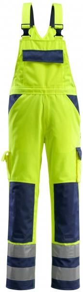MASCOT-Workwear, Warnschutz-Latzhose, Barras, 76 cm, 310 g/m², gelb/marine