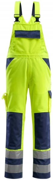 MASCOT-Workwear, Warnschutz-Latzhose, Barras, 82 cm, 310 g/m², gelb/marine