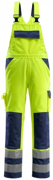 MASCOT-Workwear, Warnschutz-Latzhose, Barras, 90 cm, 310 g/m², gelb/marine