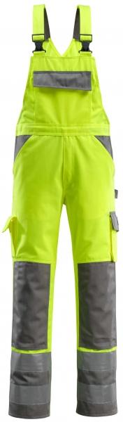 MASCOT-Workwear-Warn-Schutz-Arbeits-Berufs-Latz-Hose, BARRAS, MG310, gelb/anthrazit