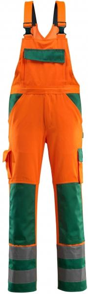 MASCOT-Workwear, Warnschutz-Latzhose, Barras, 82 cm, 290 g/m², orange/grün