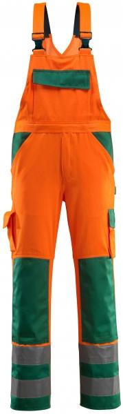 MASCOT-Workwear-Warn-Schutz-Arbeits-Berufs-Latz-Hose, BARRAS, MG 290, orange/grün