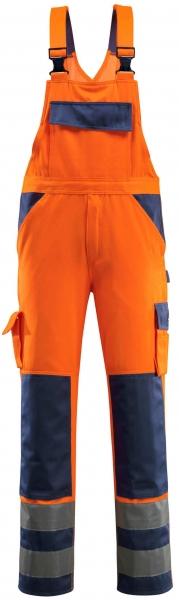 MASCOT-Workwear, Warnschutz-Latzhose, Barras, 76 cm, 290 g/m², orange/marine