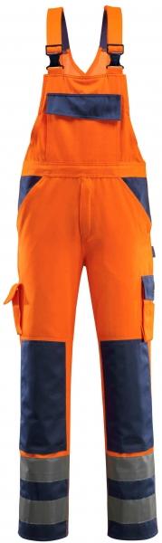 MASCOT-Workwear, Warnschutz-Latzhose, Barras, 82 cm, 290 g/m², orange/marine