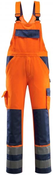 MASCOT-Workwear, Warnschutz-Latzhose, Barras, 90 cm, 290 g/m², orange/marine
