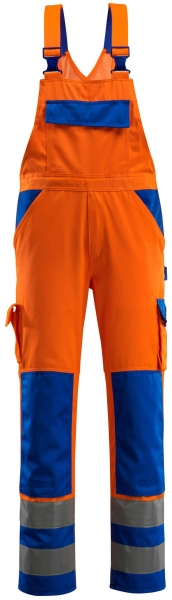 MASCOT-Workwear, Warnschutz-Latzhose, Barras, 82 cm, 290 g/m², orange/kornblau