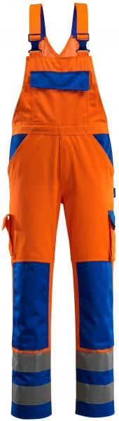 MASCOT-Workwear, Warnschutz-Latzhose, Barras, 90 cm, 290 g/m², orange/kornblau