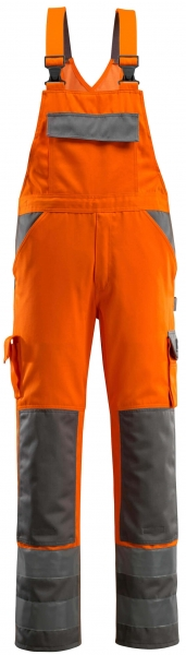 MASCOT-Workwear-Warn-Schutz-Arbeits-Berufs-Latz-Hose, BARRAS, MG 290, orange/anthrazit