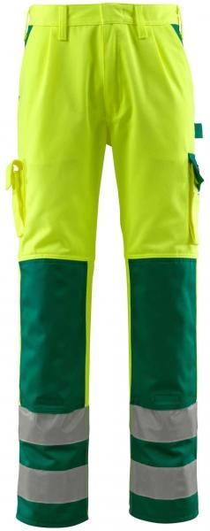 MASCOT-Workwear-Warn-Schutz-Arbeits-Berufs-Bund-Hose, OLINDA, MG310, gelb/grün