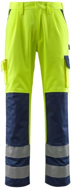 MASCOT-Workwear-Warn-Schutz-Arbeits-Berufs-Bund-Hose, OLINDA, MG310, gelb/marine