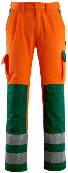 MASCOT-Workwear-Warn-Schutz-Arbeits-Berufs-Bund-Hose, OLINDA, MG290, orange/grün