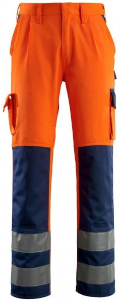 MASCOT-Workwear-Warn-Schutz-Arbeits-Berufs-Bund-Hose, OLINDA, MG290, orange/marine