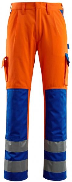 MASCOT-Workwear-Warn-Schutz-Arbeits-Berufs-Bund-Hose, OLINDA, MG290, orange/kornblau