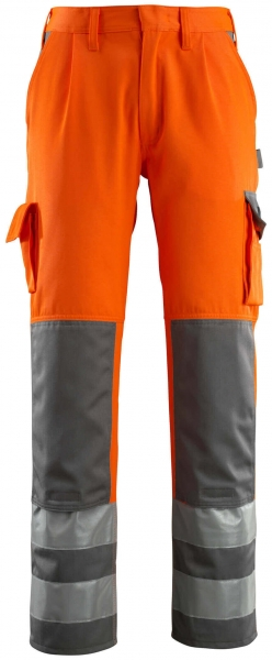MASCOT-Workwear-Warn-Schutz-Arbeits-Berufs-Bund-Hose, OLINDA, MG290, orange/anthrazit