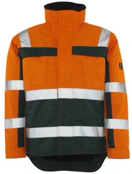 MASCOT-Workwear-Warn-Schutz-Piloten-Arbeits-Berufs-Jacke, TERESINA, orange/grün