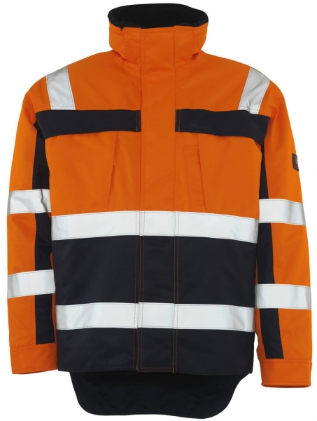 MASCOT-Workwear-Warn-Schutz-Piloten-Arbeits-Berufs-Jacke, TERESINA, orange/marine