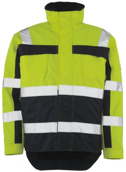 MASCOT-Workwear-Warn-Schutz-Piloten-Arbeits-Berufs-Jacke, TERESINA, gelb/marine