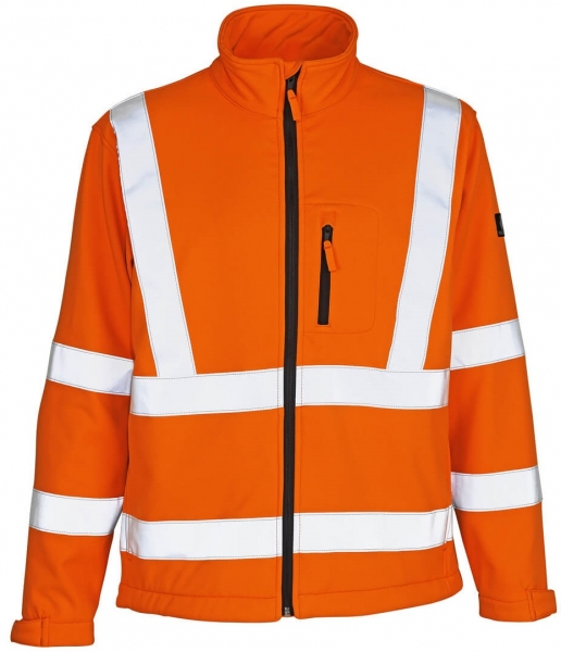 MASCOT-Workwear-Warn-Schutz-Soft Shell Arbeits-Berufs-Jacke, CALGARY, orange