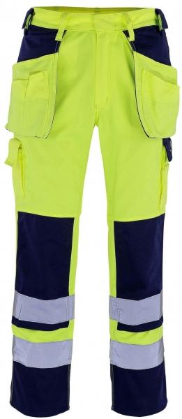 MASCOT-Workwear-Warn-Schutz-Arbeits-Berufs-Bund-Hose, ALMAS, MG310, gelb/marine