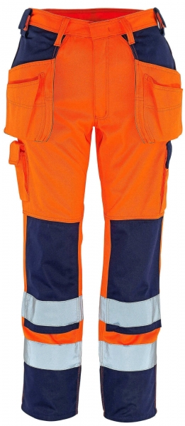 MASCOT-Workwear, Warnschutz-Bundhose, Almas, 82 cm, 310 g/m², orange/marine