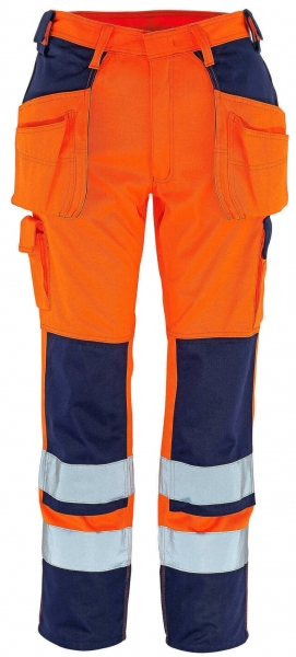 MASCOT-Workwear, Warnschutz-Bundhose, Almas, 90 cm, 310 g/m², orange/marine