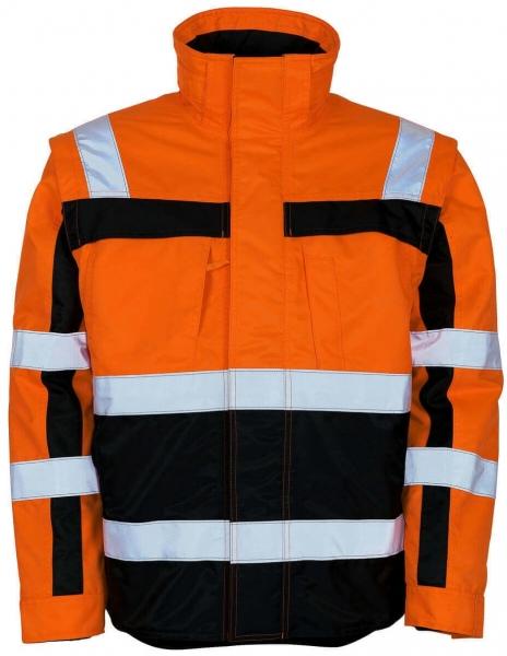 MASCOT-Workwear-Winter-Warn-Schutz-Piloten-Arbeits-Berufs-Jacke, LORETO, orange/marine