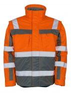 MASCOT-Workwear-Winter-Warn-Schutz-Piloten-Arbeits-Berufs-Jacke, LORETO, orange/anthrazit