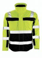 MASCOT-Workwear-Winter-Warn-Schutz-Piloten-Arbeits-Berufs-Jacke, LORETO, gelb/marine