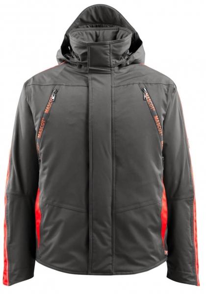 MASCOT-Workwear-Winter-Piloten-Arbeits-Berufs-Jacke, TOLOSA, dunkelanthrazit/rot