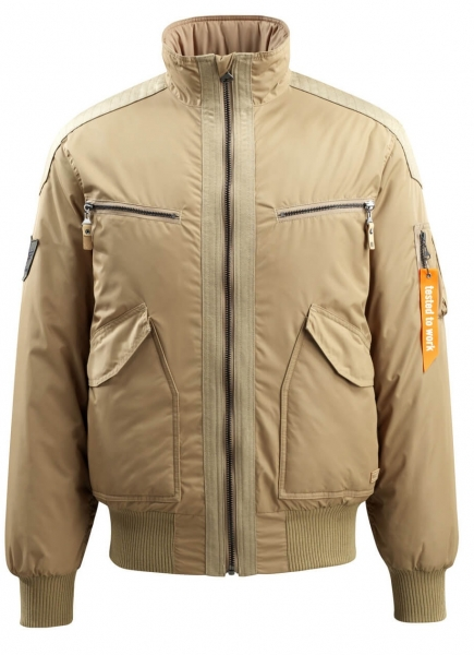 MASCOT-Workwear-Winter-Arbeits-Berufs-Piloten-Jacke, Riverdale, FREESTYLE, 135 g/m², khaki