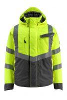 MASCOT-Workwear-Warn-Schutz-Piloten-Jacke, Hastings, SAFE SUPREME, 210 g/m², gelb/dunkelanthrazit