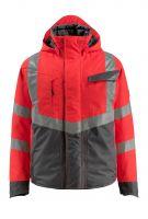 MASCOT-Workwear-Warn-Schutz-Piloten-Jacke, Hastings, SAFE SUPREME, 210 g/m², rot/dunkelanthrazit