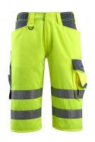MASCOT-Workwear-Warn-Schutz-Shorts, Luton, SAFE SUPREME, 290 g/m², gelb/schwarzblau