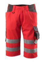 MASCOT-Workwear-Warn-Schutz-Shorts, Luton, SAFE SUPREME, 290 g/m², rot/dunkelanthrazit