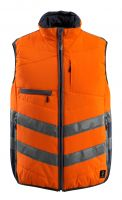 MASCOT-Workwear-Warn-Schutz-Thermoweste, Grimsby, SAFE SUPREME, 115 g/m², orange/schwarzblau