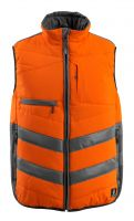 MASCOT-Workwear-Warn-Schutz-Thermo-Weste, Grimsby, SAFE SUPREME, 115 g/m², orange/dunkelanthrazit