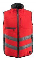 MASCOT-Warnschutz-Thermoweste, Grimsby,  115 g/m², rot/dunkelanthrazit
