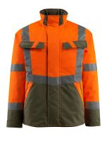 MASCOT-Warnschutz-Pilotenjacke, Penrith,  210 g/m², orange/moosgrün
