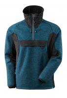MASCOT-Workwear-Arbeits-Berufs-Strick-Jacke, ADVANCED, kurzer Reißverschluss, Membran, 460 g/m², dunkelpetroleum/schwarz