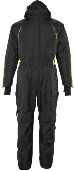 MASCOT-Workwear-Kälte-Schutz, Winter-Rallye-Kombi-Arbeits-Berufs-Overall, mit Knietaschen, HARDWEAR, 270 g/m, schwarz/leuchtgelb
