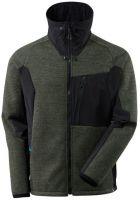 MASCOT-Workwear-Arbeits-Berufs-Strick-Jacke, ADVANCED, mit Membran, 460 g/m², moosgrün/schwarz