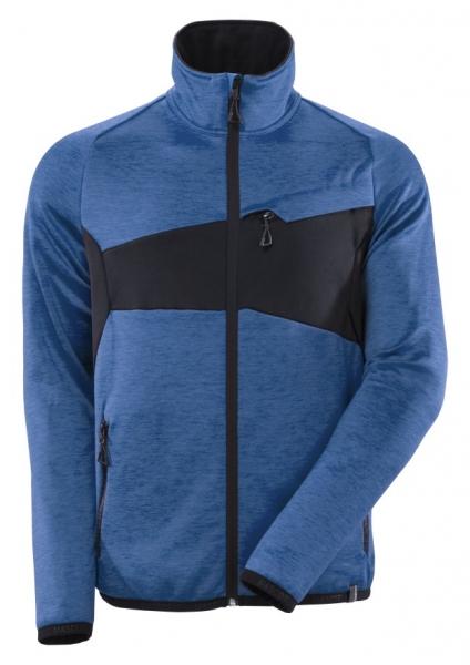 MASCOT-Fleecepullover mit Reißverschluss, ACCELERATE, 260 g/m², azurblau/schwarzblau