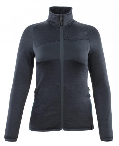 MASCOT-Damen Fleecepullover mit Reißverschluss, 260 g/m², schwarzblau