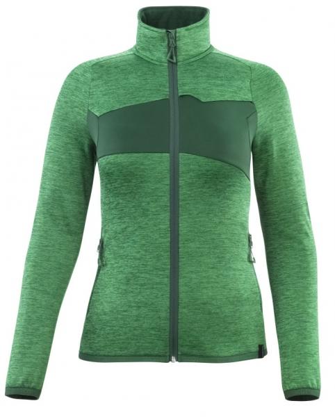 MASCOT-Damen Fleecepullover mit Reißverschluss, 260 g/m², grasgrün/grün