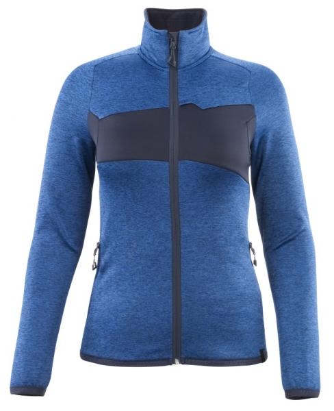 MASCOT-Damen Fleecepullover mit Reißverschluss, 260 g/m², azurblau/schwarzblau